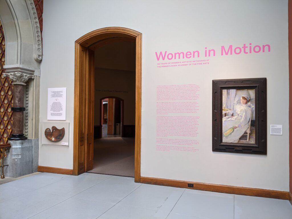 women in motion exhibition entrance